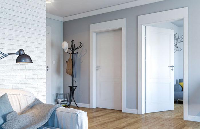 Внешний вид дверей в скандинавском стиле