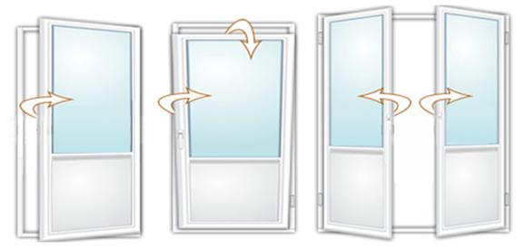 Поворотно-откидные двери