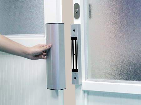 Электромагнитный замок на двери