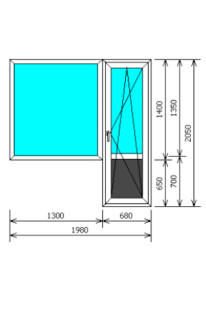Размеры балконной двери