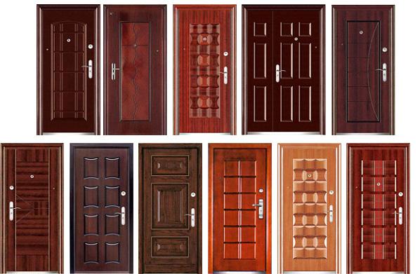 Металлические двери различных материалов