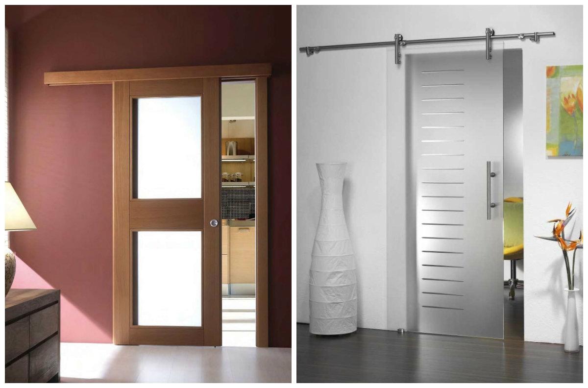 Раздвижные двери из различных материалов
