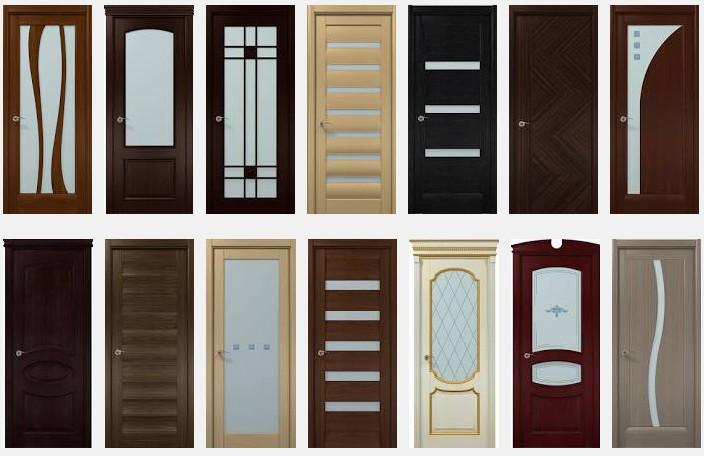 Двери со стеклянными вставками