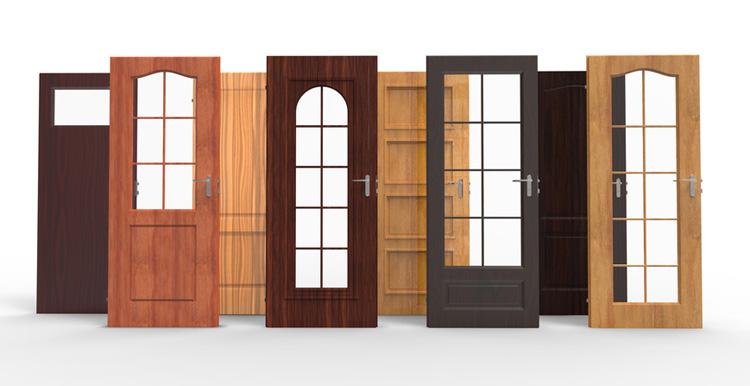 Различные модели деревянных дверей