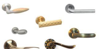 Различные модели дверных ручек