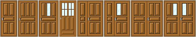 Варианты исполнения деревянных дверей