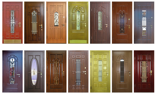Входные двери со стеклом