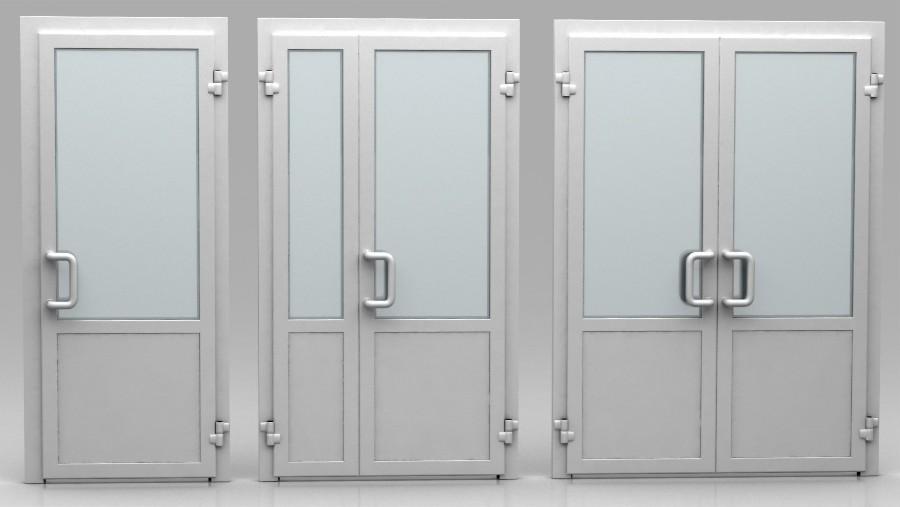 Различные модели дверей из алюминия