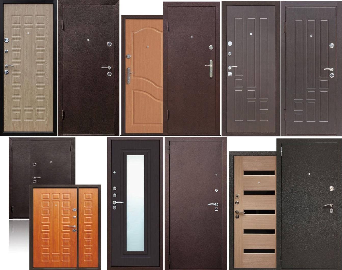 Двери с отделкой МДФ