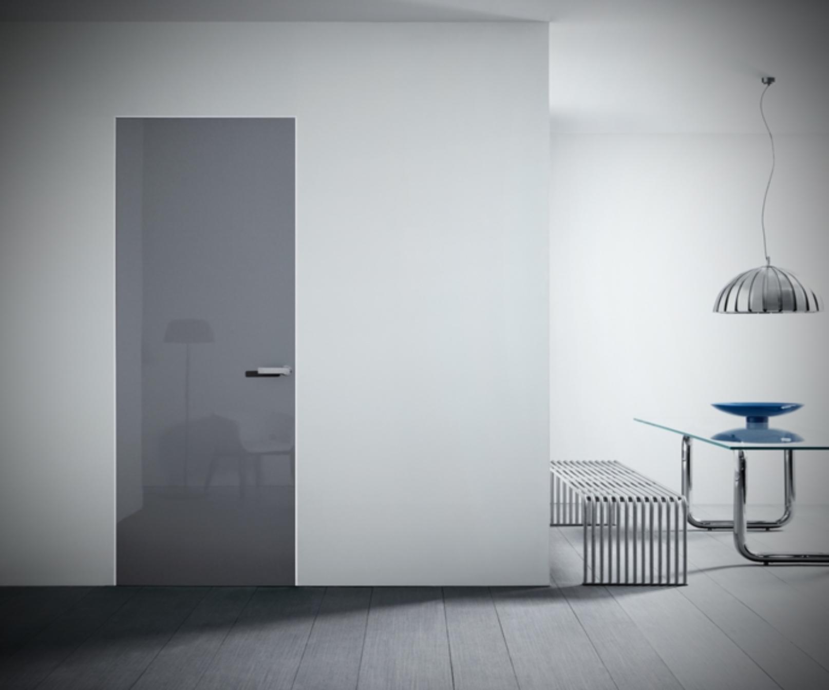 Стеклянная дверь без коробки