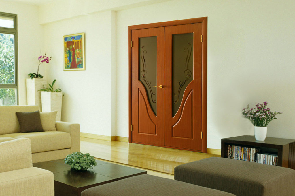 ПВХ дверь в интерьере