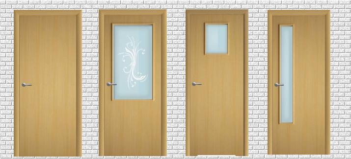Внешний вид деревянных строительных дверей