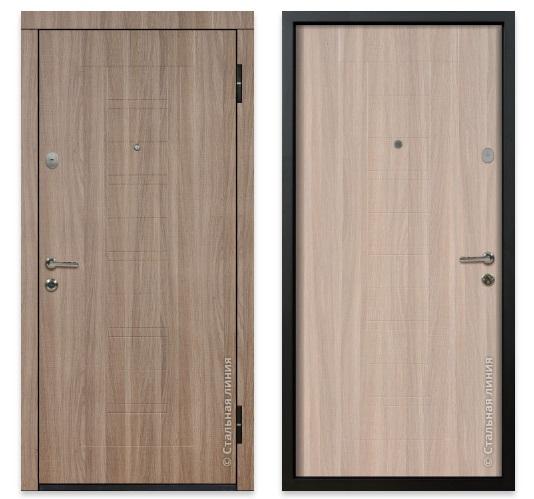 Дверь с отделкой экошпоном