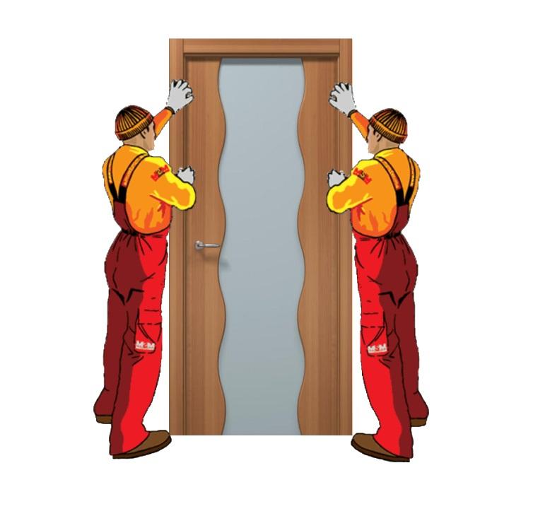 Установка межкомнатной двери