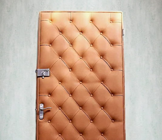 Входная дверь с новой обивкой