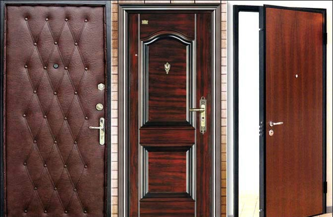 Входные двери с различными вариантами отделки