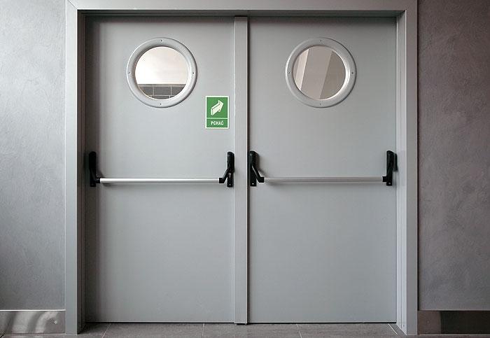 Противопожарная металлическая дверь