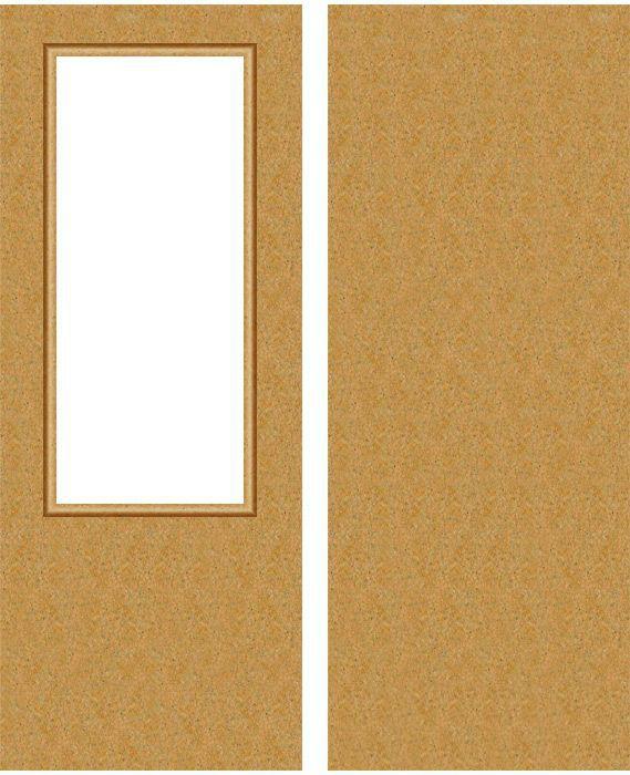 Деревянная оргалитовая дверь
