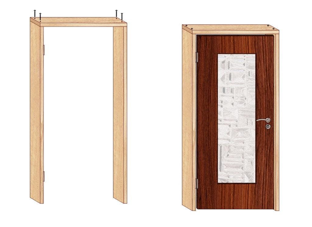 Дверь с коробом