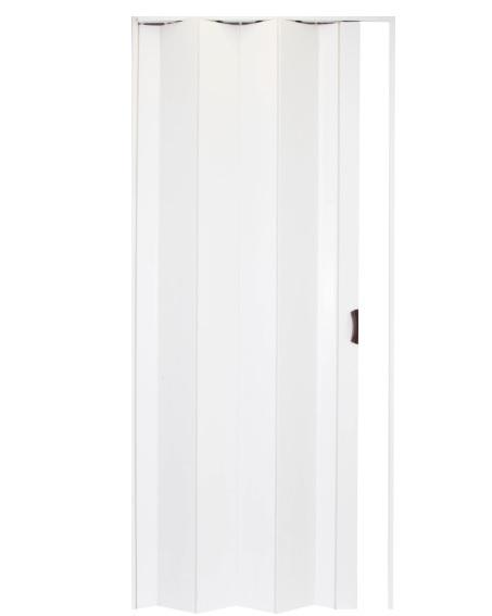 Белая дверь-гармошка Леруа