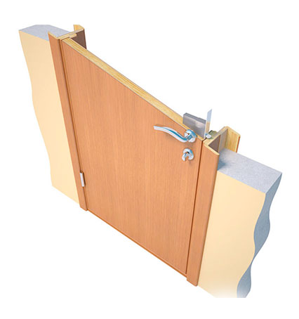 Межкомнатная дверь в проеме