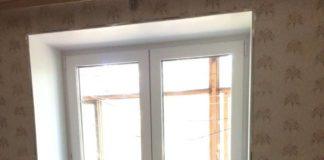 Двупольная балконная дверь