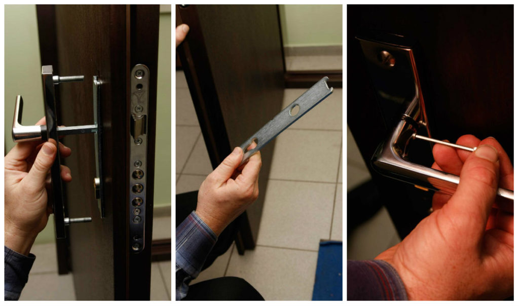 Снятие ручки замка