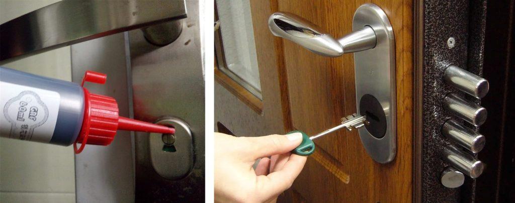 Устранение засорения замка входной двери