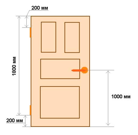 Размеры дверного полотна