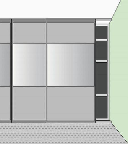 Конструкция дверей для гардеробной