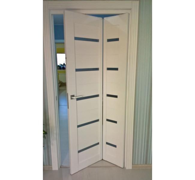 Белая складная дверь
