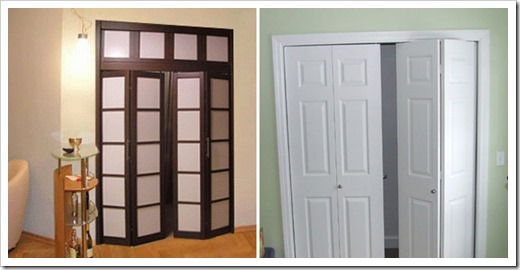 Виды складных дверей