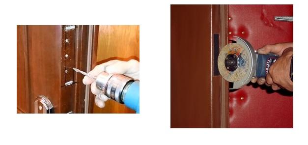 Вырезания отверстия в металлической двери под замок
