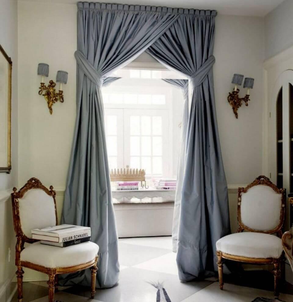 Пышные шторы для дверного проема