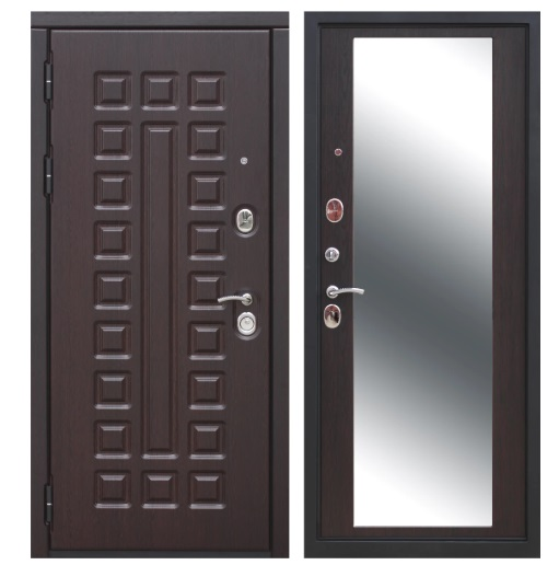 металлические двери с зеркалом купить