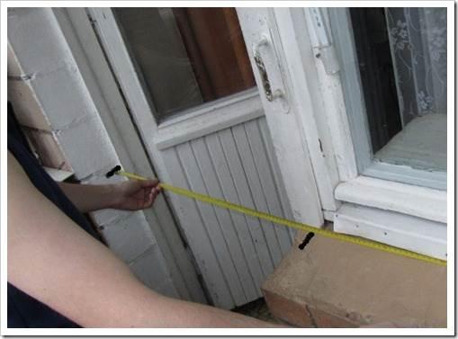 Измерение балконного окна и двери