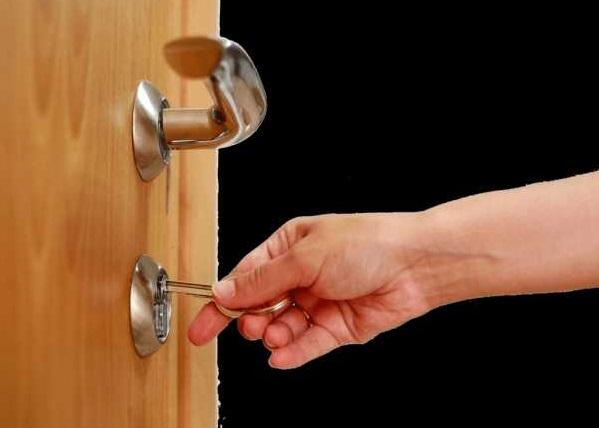 Открытие двери другим ключом