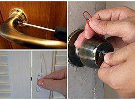 Открытие двери если потерялся ключ