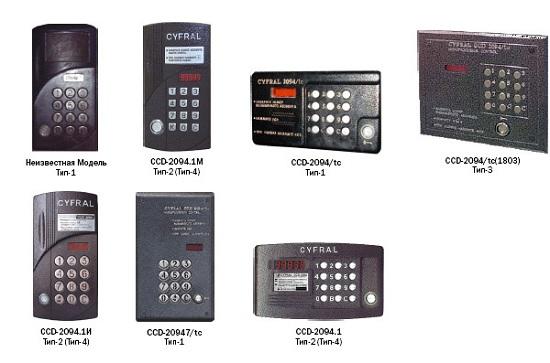 Модели домофонов Cyfral