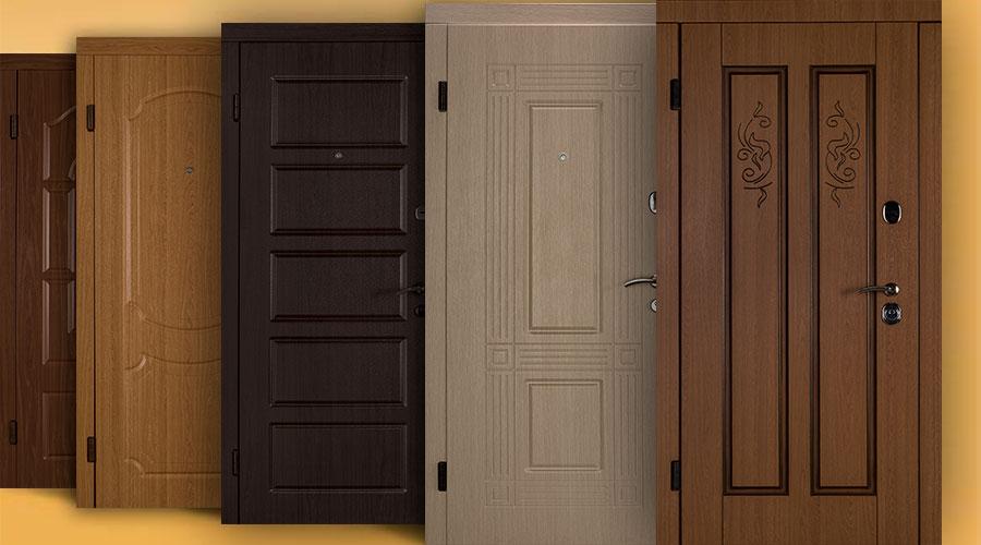 Варианты отделки железных дверей