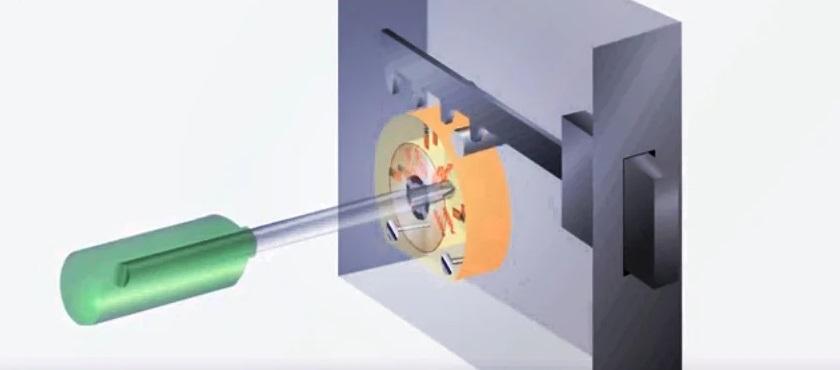 Открытие замка отверткой