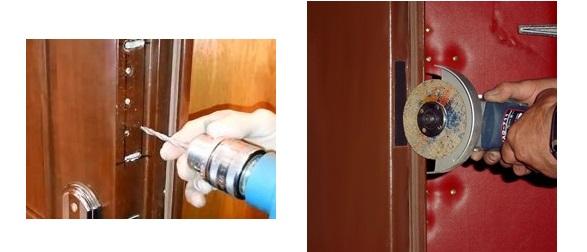 Вырезание отверстия под замок в металлической двери