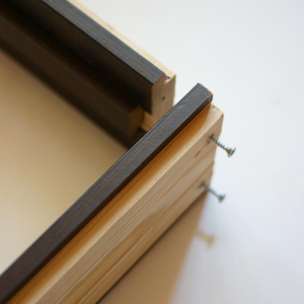 Сборка коробки двери под прямым углом