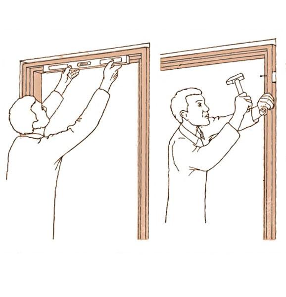 Монтаж дверного короба