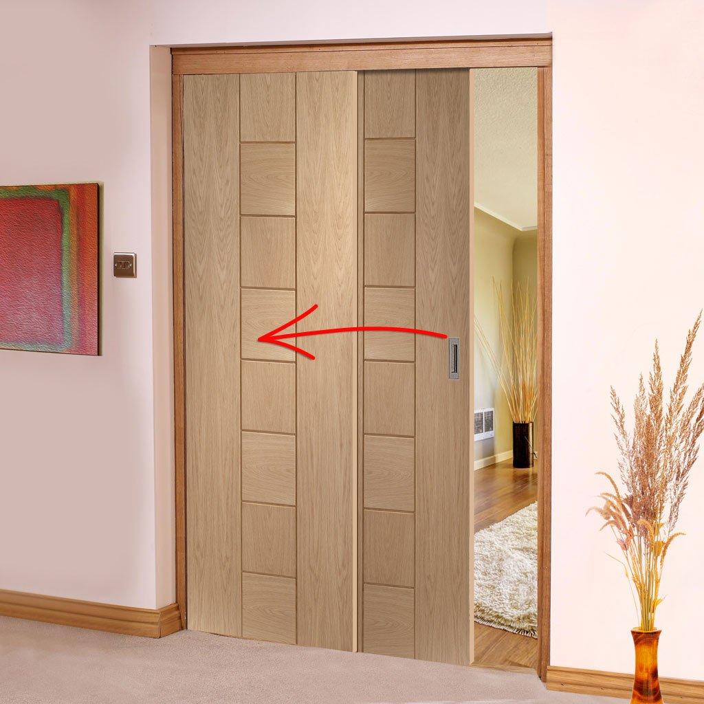 Внутрипроемная раздвижная дверь