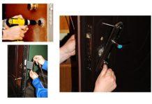 Этапы врезки замка в дверь из металла