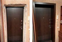 Обустройство дверных откосов