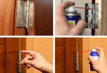Смазка петель дверей