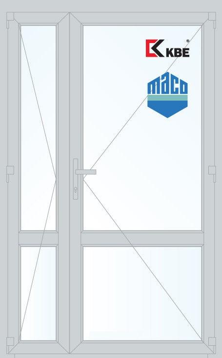 Дверь с профилем KBE