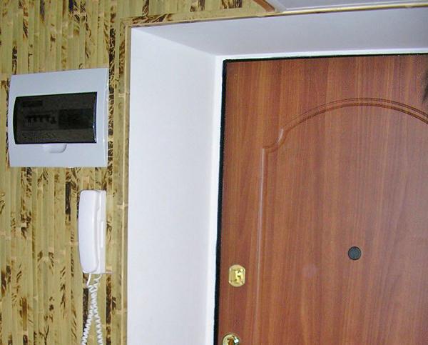 Оштукатуренный откос входной двери